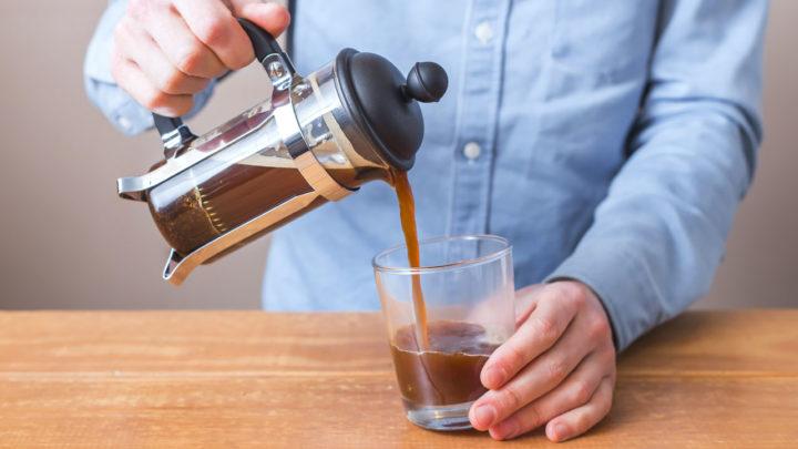 Приготовление  зеленого кофе во французском прессе