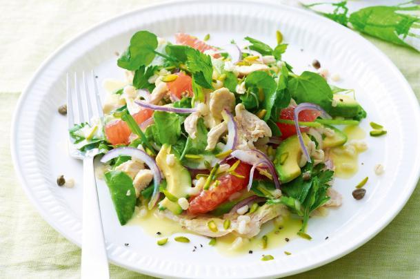 Рецепты диетических салатов с грейпфрутом ч1