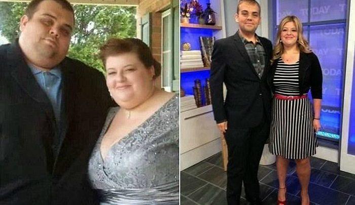 Молодая пара из США смогла похудеть в общей сложности на 235 кг!